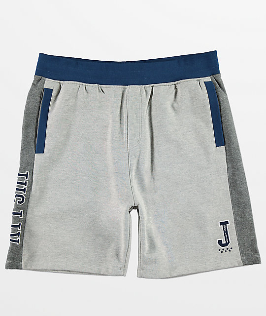 JSLV Majors Custom shorts de polar gris y blanco