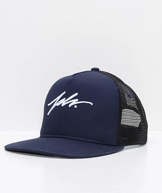 3305dfb4db7 JSLV Signature Navy Snapback Hat