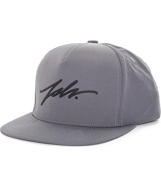 234723aa548 JSLV Signature Taslon Grey Snapback Hat