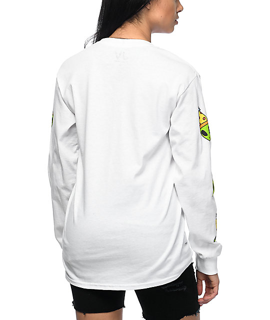 JV by Jac Vanek Ain't No Party Long Sleeve White T-Shirt