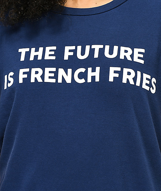 JV by Jac Vanek Future Is Fries Navy T-Shirt