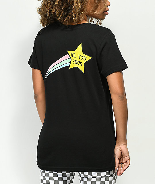 JV by Jac Vanek Hi You Suck Star camiseta negra