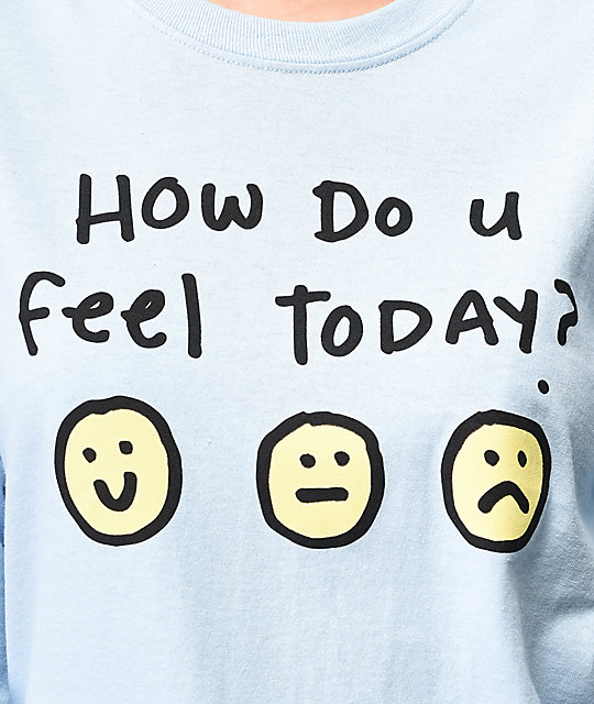 JV by Jac Vanek How Do You Feel Blue Long Sleeve T-Shirt