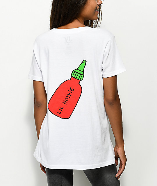 JV by Jac Vanek Lil Hottie Sriracha White T-Shirt