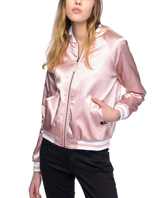 JV by Jac Vanek Mara I Dont Care Mauve Bomber Jacket