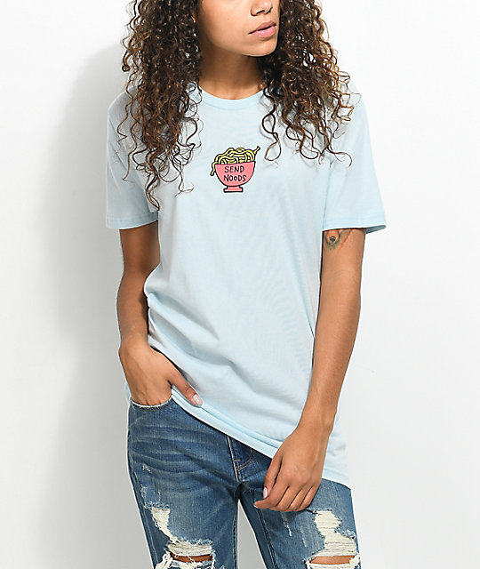 JV by Jac Vanek Send Noods Light Blue T-Shirt