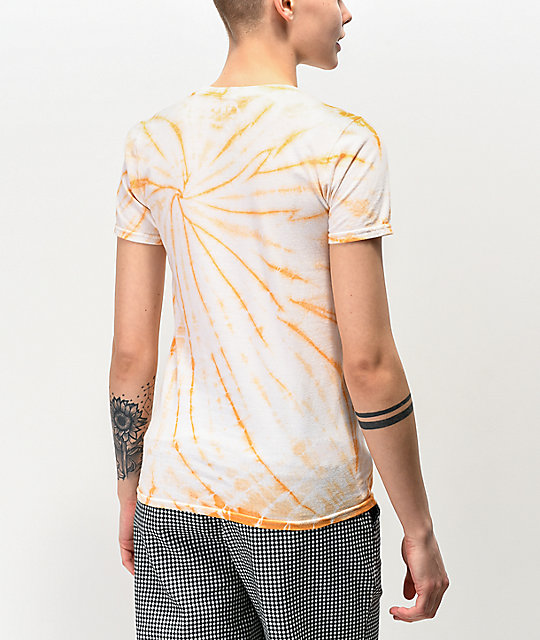 JV by Jac Vanek Stop Trippin Orange Tie Dye T-Shirt