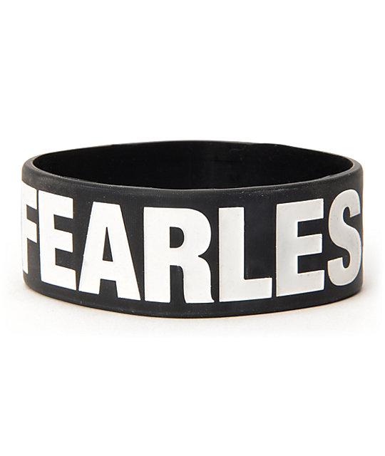 Jac Vanek Fearless Black Rubber Bracelet