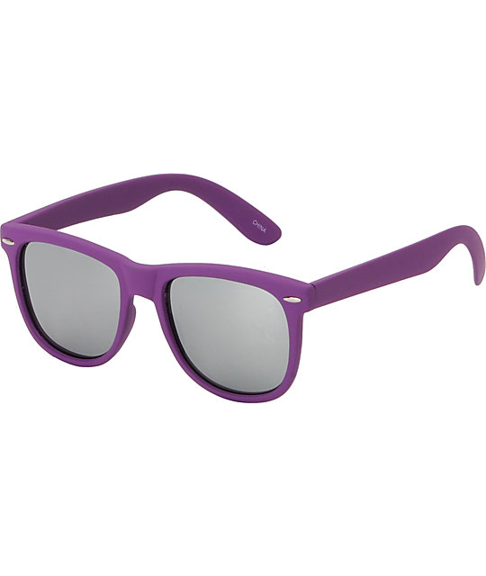 Jack Martin Frisky Business Matte Purple & Silver Sunglasses