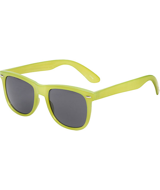 Jack Martin Frisky Business Milky Yellow Sunglasses