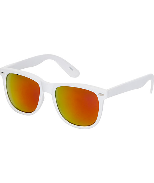 Jack Martin Frisky Business White & Red Fire Sunglasses