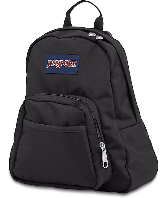 JanSport Half Pint Black Backpack