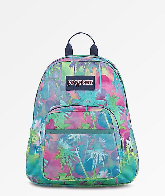JanSport Half Pint Electric Palm Mini Backpack  f3662354e22f3