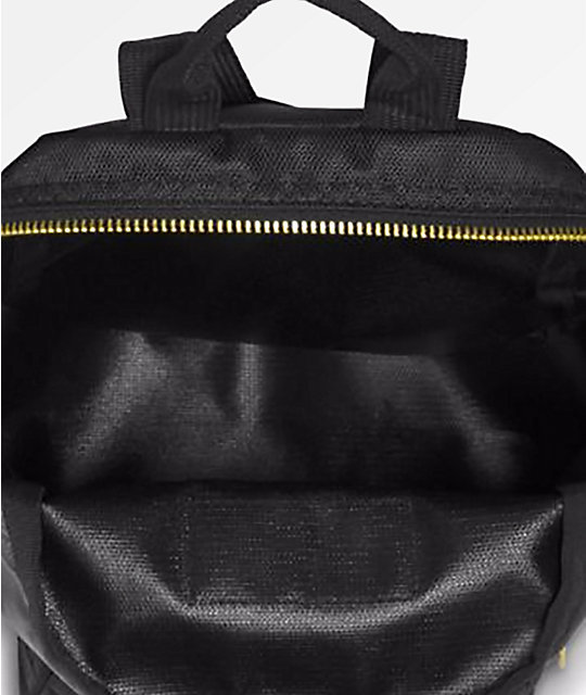 JanSport Half Pint FX Black & Gold Mini Backpack