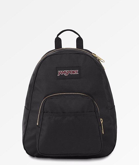 JanSport Half Pint FX Black   Gold Mini Backpack  f10515205ffa9