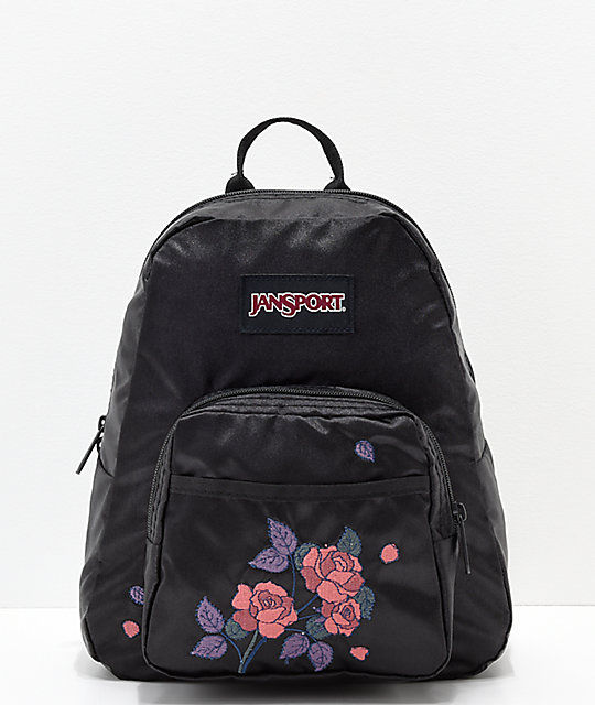 2e84ad3aae3b JanSport Half Pint FX Satin Rose Black Mini Backpack