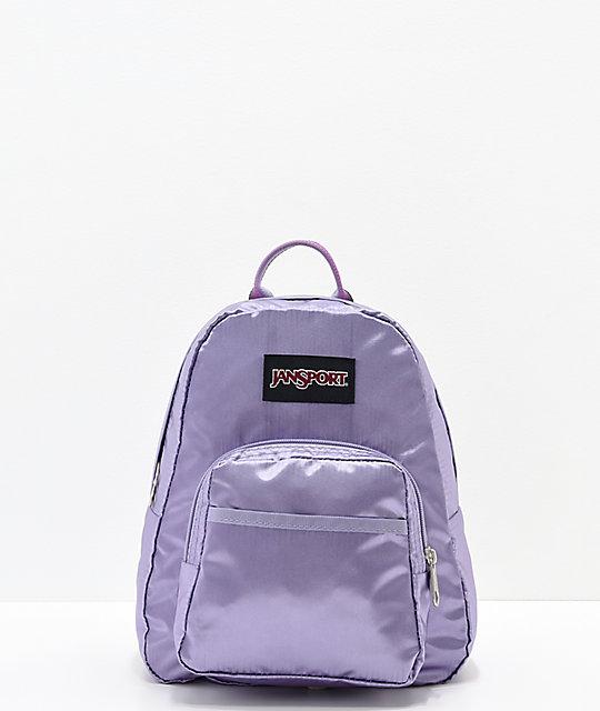 ec9a32658bf5 JanSport Half Pint FX Satin Summer Purple Mini Backpack