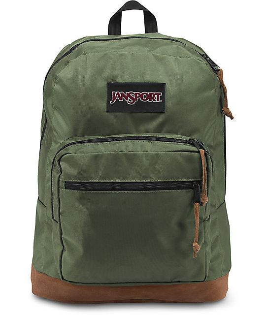 super popular d4558 1e69f JanSport Right Pack Digital Edition 31L Muted Green Backpack   Zumiez