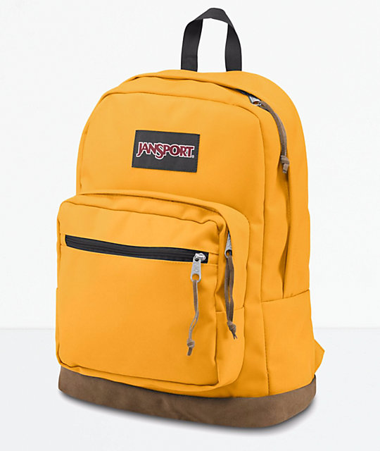 c6d0260db JanSport Right Pack English Mustard Backpack | Zumiez.ca