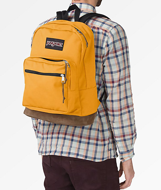 e0aab97b4e JanSport Right Pack English Mustard Backpack