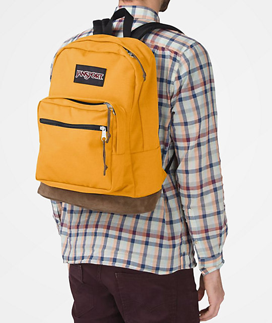 JanSport Right Pack English Mustard mochila amarilla