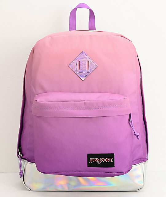 JanSport Super FX Iridescent Sunset Backpack