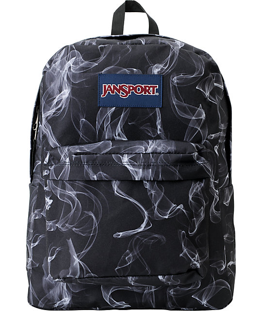 search for official outstanding features meticulous dyeing processes JanSport Superbreak Black & White Smoke Screen Backpack