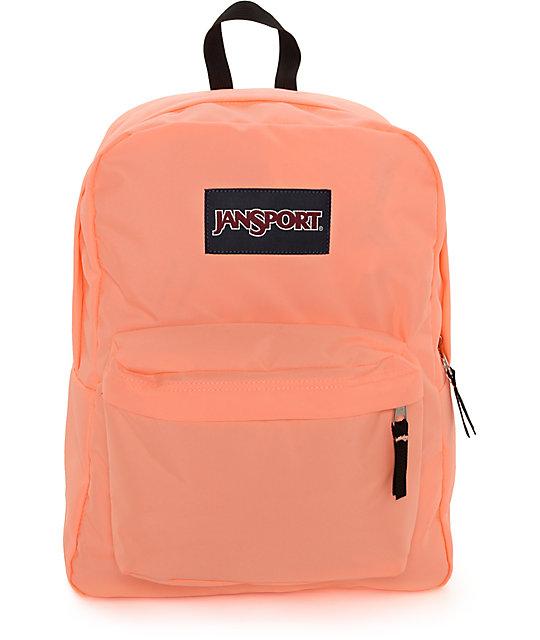 JanSport Superbreak Coral Peaches 25L Backpack