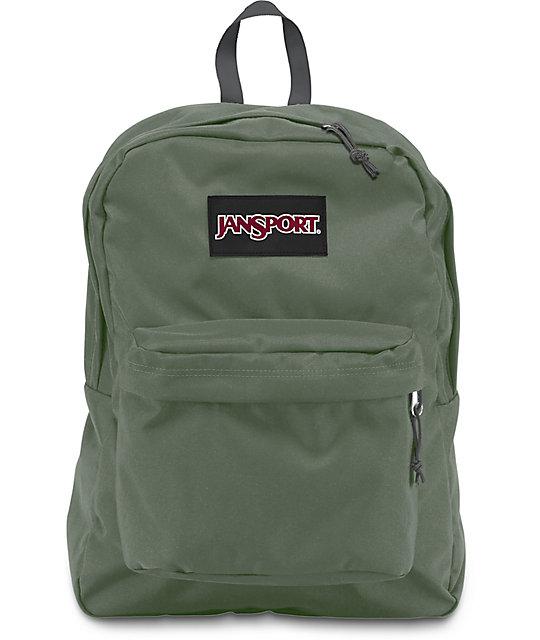on sale f87d0 179fe JanSport Superbreak Muted Green 25L Backpack   Zumiez