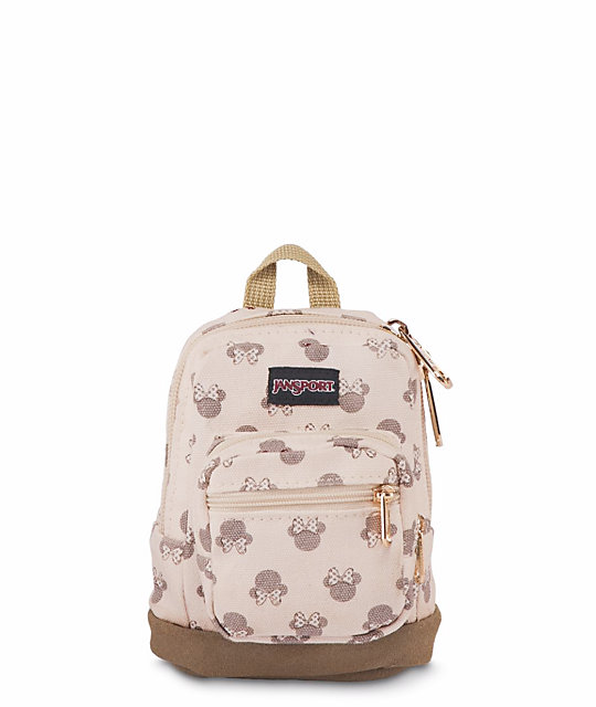 139a1f45d4e JanSport x Disney Right Pouch Luxe Minnie .05L Mini Backpack