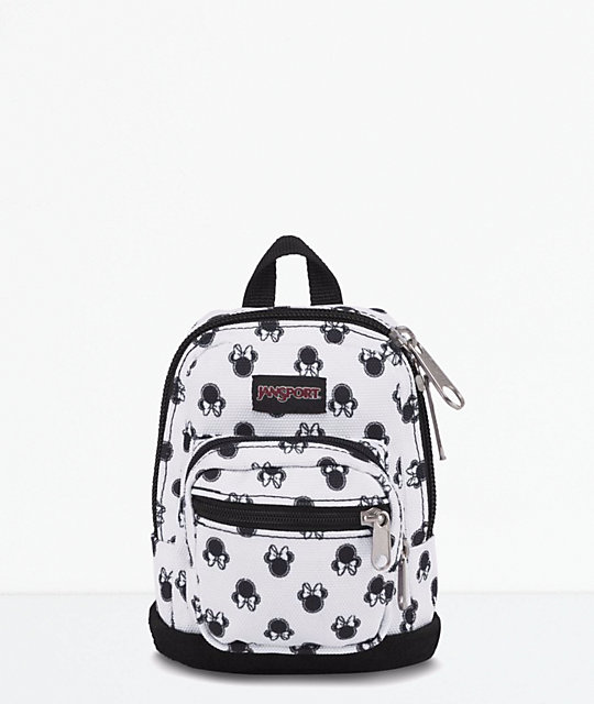7caeafa8889 JanSport x Disney Right Pouch Minnie Bow Dot White .05L Mini Backpack