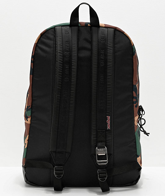JanSport x HUF Right Pack Woodland Camo Backpack