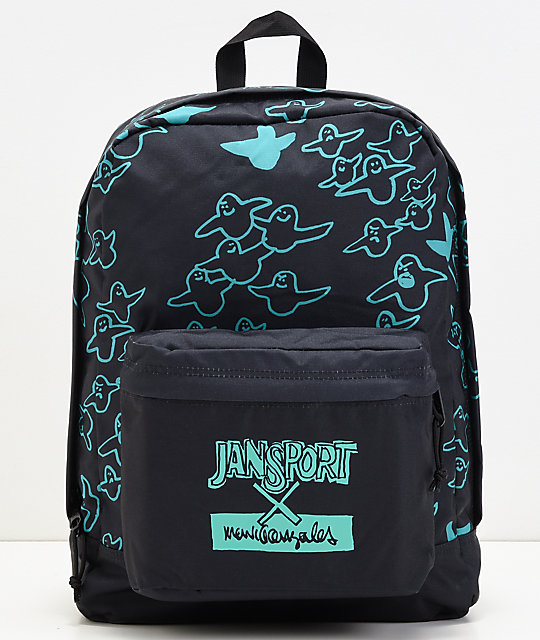 JanSport x Mark Gonzales The Gonz FX Black & Green Backpack
