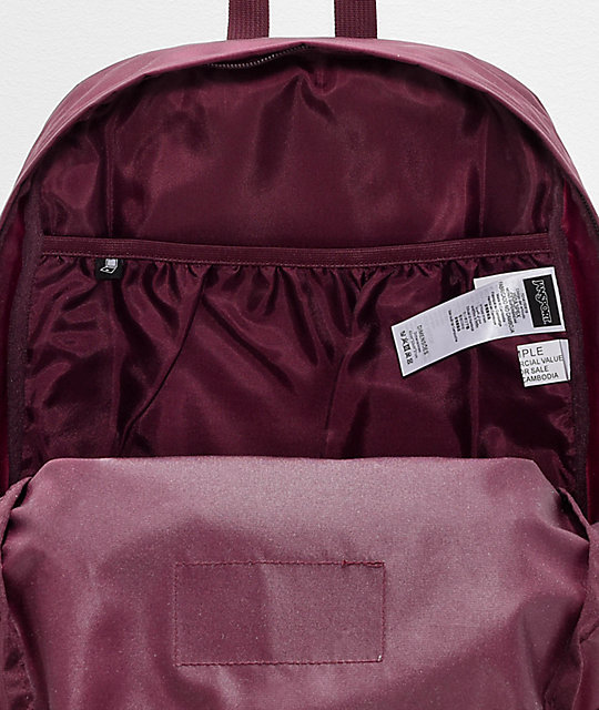 Jansport Superbreak Mono Dried Fig mochila