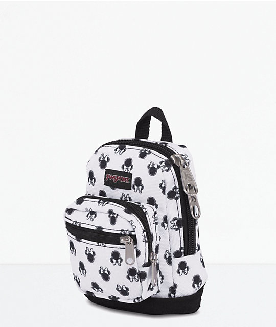 Jansport x Disney Right Pouch Minnie Bow Dot White .05L Mini Backpack