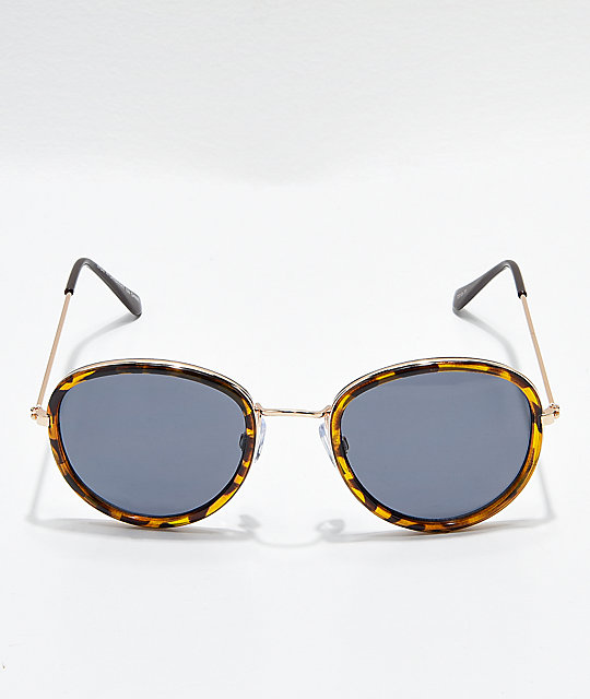 Jelly Tortoise & Shiny Gold Sunglasses