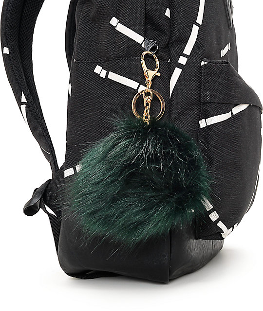 Jungle Green Fuzzy Bag Charm