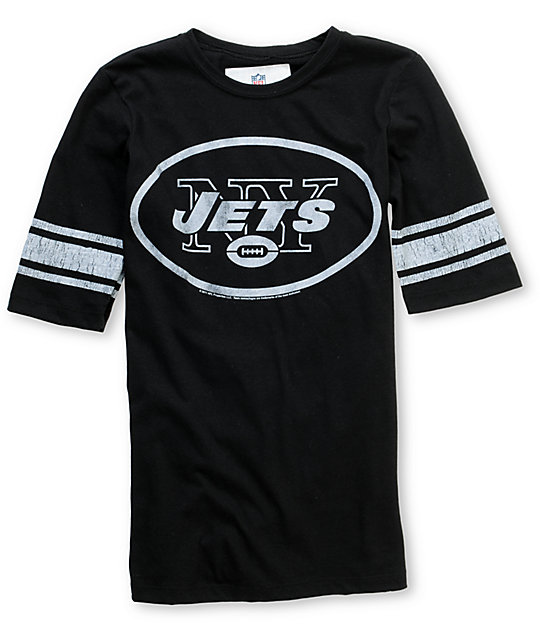 Junk Food NFL New York Jets Black Football T-Shirt