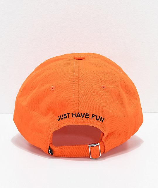 a512506739d ... Just Have Fun Back To Basics Orange Strapback Hat