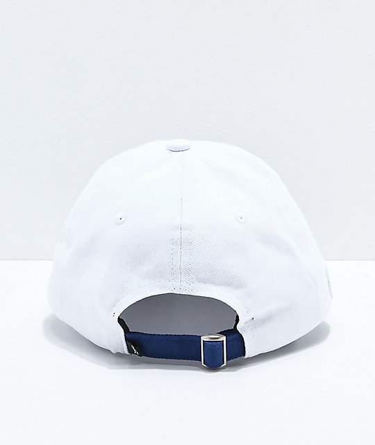 Just Have Fun Happy Place White & Navy Strapback Hat