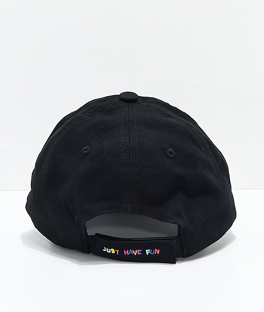 Just Have Fun Hold Up gorra strapback en negro