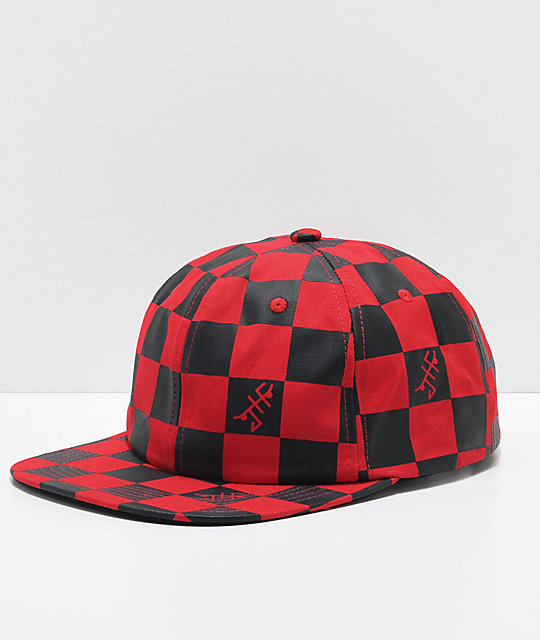Just Have Fun Strategy Red & Black Snapback Hat