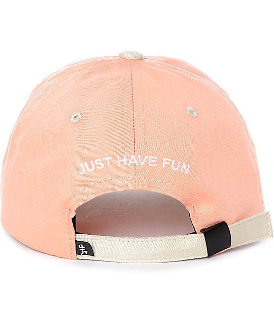 ... Just Have Fun Toned Out Peach Strapback Hat 2c4591185d89