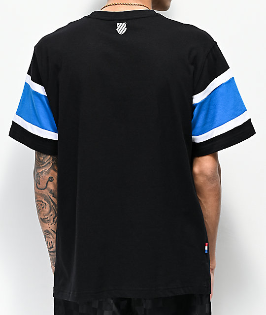K-Swiss Ace Graphic camiseta negra y azul
