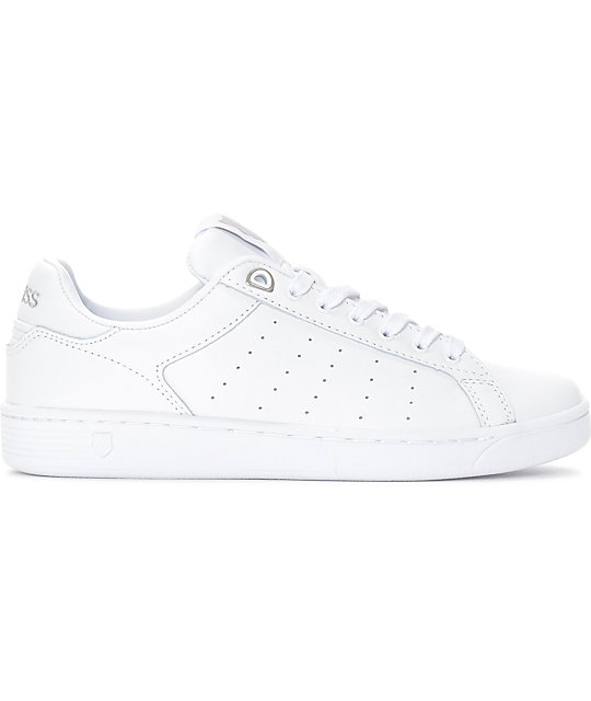 Zapatos blancos casual K-Swiss Clean Court para mujer kDY0Iy970