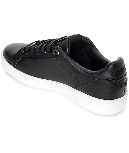 Zapatos negros casual K-Swiss Clean Court para hombre lLmeR5T