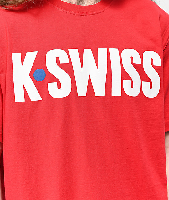 K-Swiss Hotshot Graphic Red T-Shirt