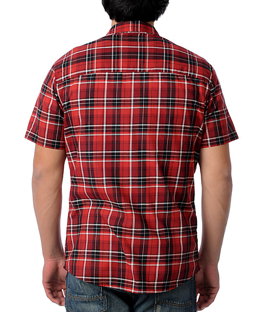 KR3W Autry Red Plaid Woven Shirt