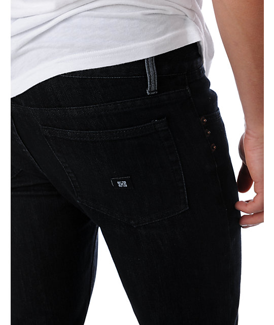 KR3W Basic Black K Slim Jeans