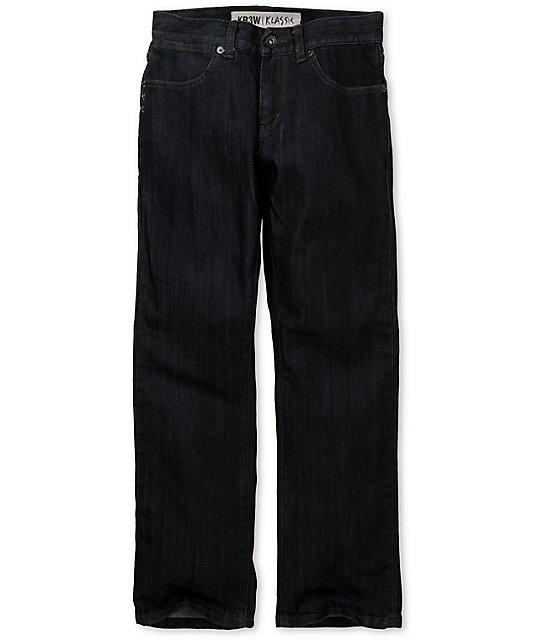 KR3W Boys Klassics Dark Blue Slim Jeans